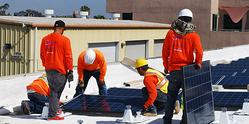 Commercial Solar Energy Installation