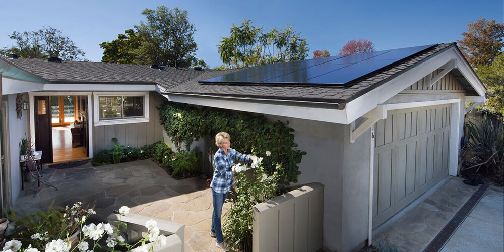 San Diego Home with Solar Energy System on Roof