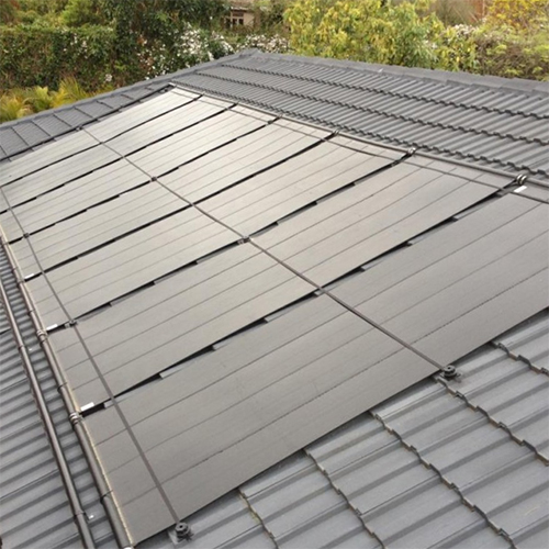 Solar Pool Heating System on Rooftop