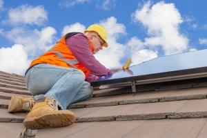 solar tech worker
