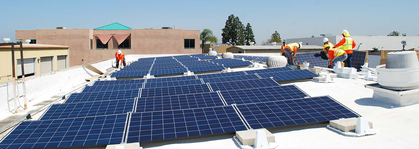 Commercial solar energy installation