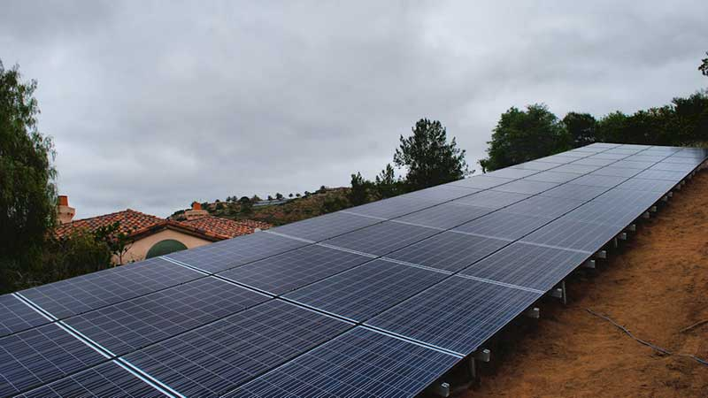 Ground Mounted Solar Panel System