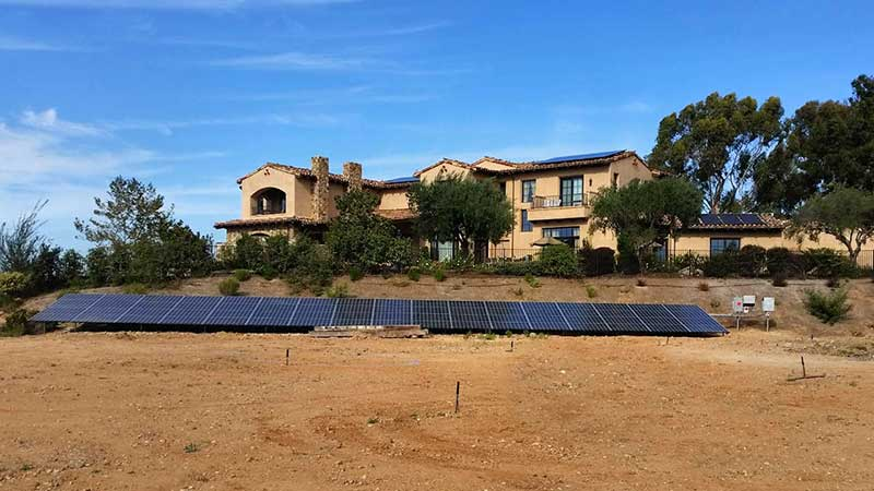 Ground Mounted Solar Panel System Installation