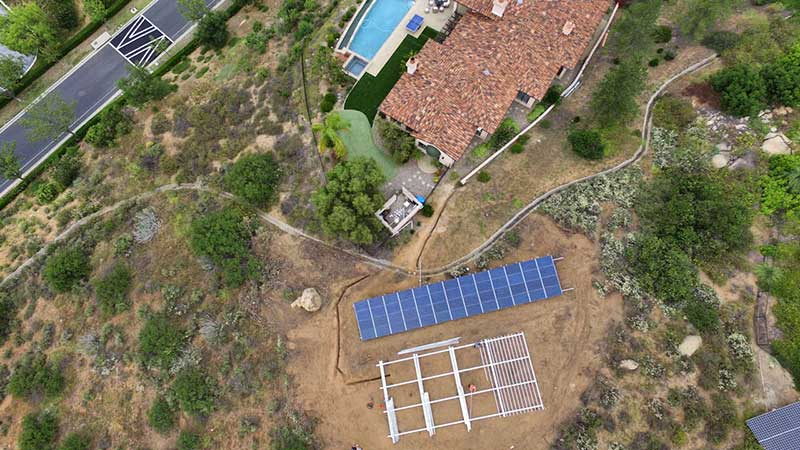 Residential Ground Mounted Solar Energy System