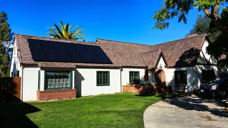 Roof Mounted SunPower Solar Panel Installation