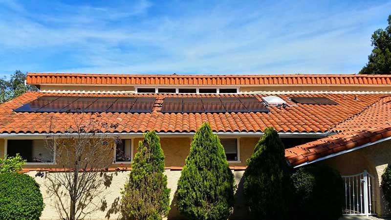 SunPower Solar Panel Installation on Clay Tile Roof