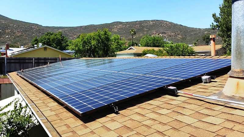 Rooftop Solar Panel System Installation