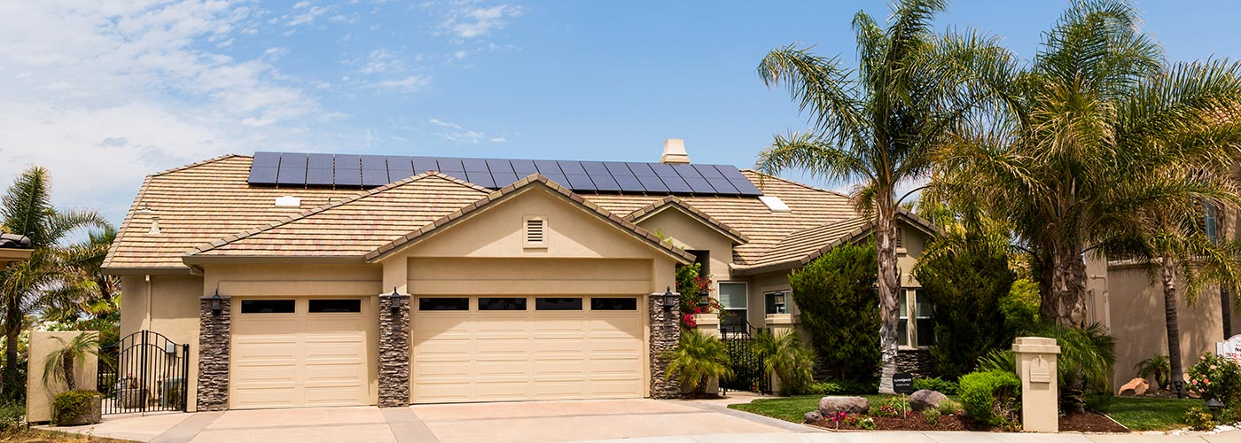 SunPower solar panels on residential home