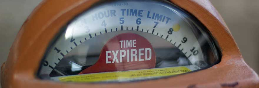 Time expired on parking meter