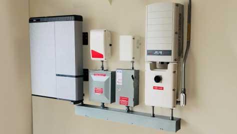 LG Chem energy storage system installed on wall