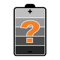 Battery Icon with Question Mark