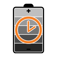 Battery Icon with Clock
